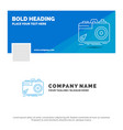 blue business logo template for camera vector image vector image