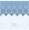 blue colour moroccan template with place for your vector image