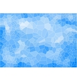 blue mosaic composition with ceramic shapes vector image vector image