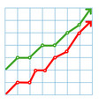 business candle stick graph chart of stock market vector image