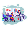 business people on meeting and presentation for vector image