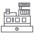 cash machineshop register line icon sign vector image vector image