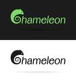 Chameleon label vector image vector image