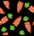 colorful carrot doodle pattern vector image vector image