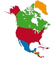 Colorful North America map vector image vector image