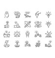 creativity icon set vector image vector image