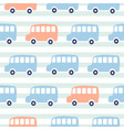cute buses seamless pattern wallpaper vector image vector image