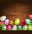 easter eggs background top vector image vector image