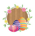 easter eggs cartoon vector image