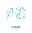ecotourism design element isolated on white vector image vector image