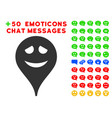 embarrassment smiley map marker icon with bonus vector image vector image