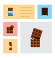 flat icon bitter set of sweet dessert wrapper vector image