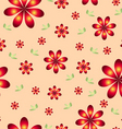 floral wallpaper with set of different flowers vector image vector image