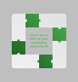 four green pieces puzzle infographic 4 steps vector image vector image