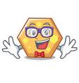 geek hexagon character cartoon style vector image