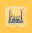 geothermal power plant silhouette icon in flat vector image vector image