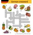 German crossword education game for children