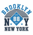 graphic design brooklyn ny new york for t-shirts vector image