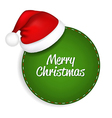Green Speech Bubble With Santa Hat vector image vector image