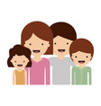 half body people with woman and girl and man and vector image vector image