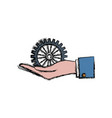 hand icon image vector image vector image