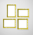Hanging paper sign frame gold picture shadow