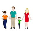 happy family mother and father with two sons vector image vector image