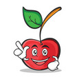 have an idea cherry character cartoon style vector image vector image