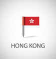 hong kong flag pin vector image