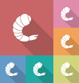 Icon of shrimp vector image vector image