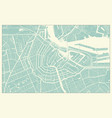 modern amsterdam map in vintage style vector image vector image