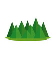 mountains camp isolated icon vector image vector image