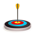 new target icon cartoon style vector image vector image