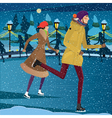 Night at the ice rink vector image vector image