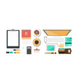 office workplace organization of working space vector image