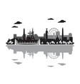 paris skyline silhouette 5 vector image vector image