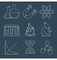 Physics science icons flat vector image