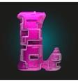 pink plastic figure l vector image