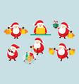 santa claus characters set shopping concept vector image