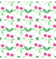 Seamless watercolor pattern with cranberries on vector image vector image