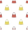 Seamless Womens Handbag Pattern vector image vector image
