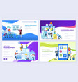 set social media marketing data analysis vector image vector image