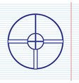 sight sign navy line icon on vector image vector image