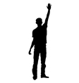 Silhouette of a saluting man vector image