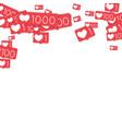 social media counters vector image