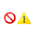 stop and attention icons for web and app ban vector image