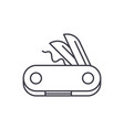 swiss knife line icon concept swiss knife vector image vector image