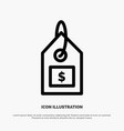 tag dollar label interface line icon vector image vector image
