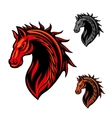 Tribal horse mascot with fire flames ornament vector image vector image