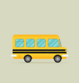 yellow school bus flat style vector image vector image